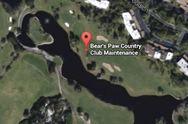 Bears Paw Golf Aerial Map