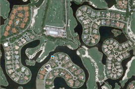 Grey Oaks Naples Golf Aerial Map