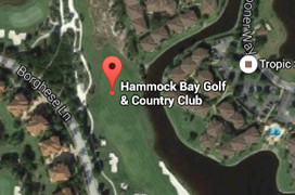 Hammock Bay Golf Aerial Map