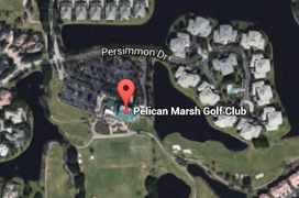 Pelican Marsh Golf Aerial Map