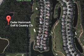 Cedar Hammock Golf Aerial Map