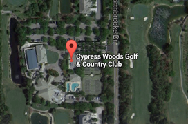 Cypress Woods Golf Aerial Map