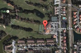 Foxfire Golf Aerial Map