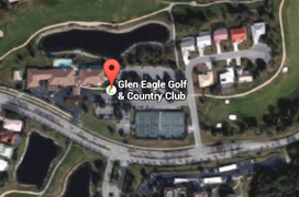 Glen Eagle Golf Aerial Map