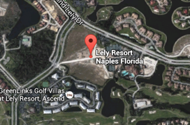 Lely Resort Golf Aerial Map