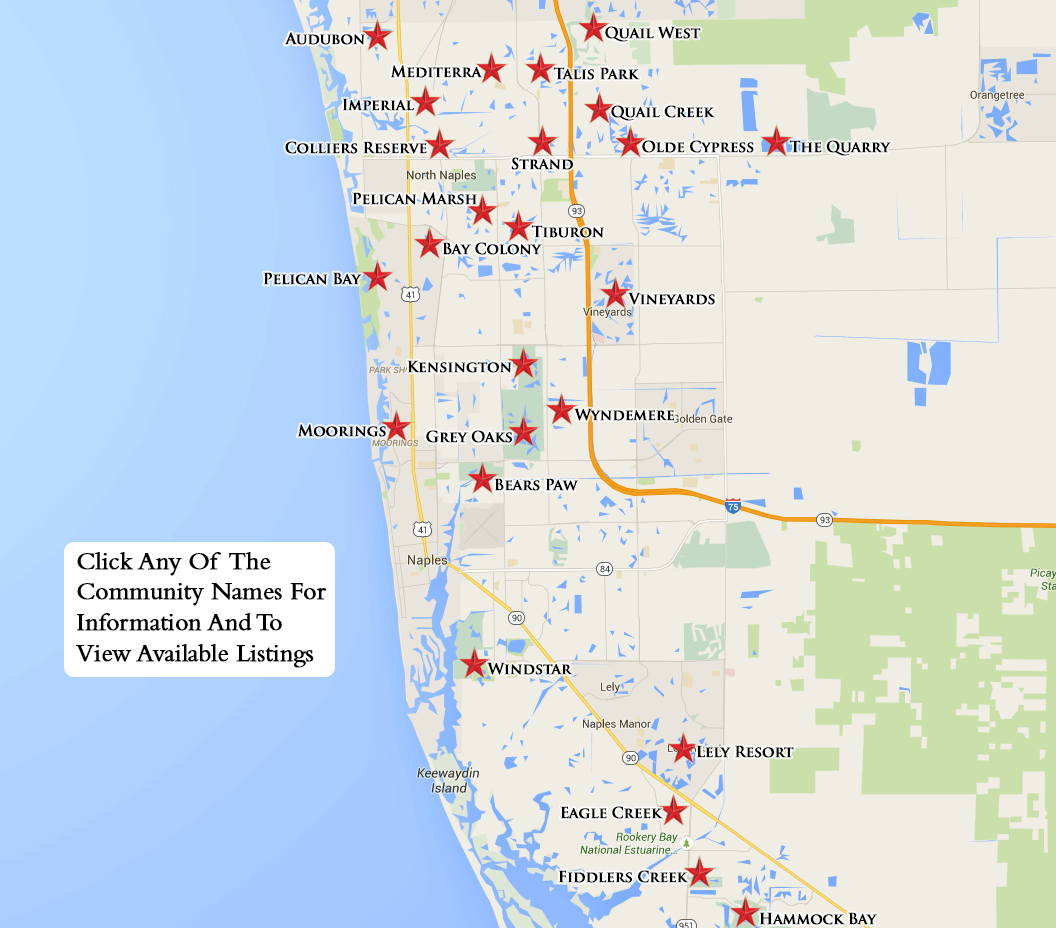 golf courses in florida map