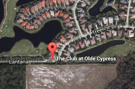 Olde Cypress Golf Aerial Map