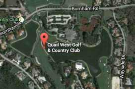 Quail West Golf Aerial Map