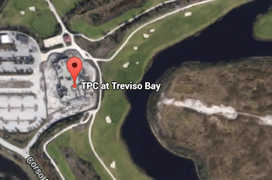 Treviso Bay Golf Aerial Map